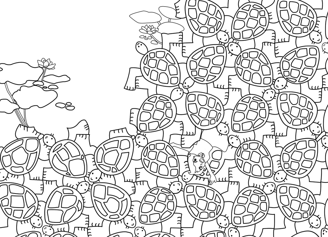 download one of five tessalation coloring pages here - Coloring Pages Coloring Pages
